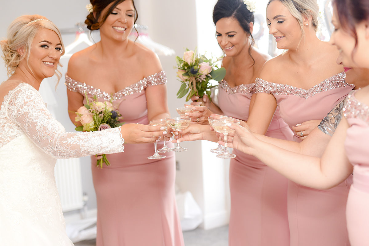 Documentary wedding photography in Nottingham bridesmaids
