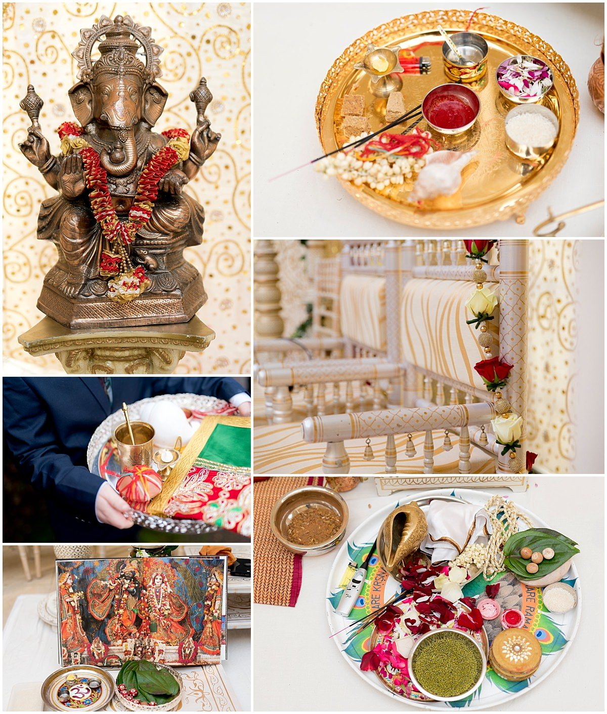 Hindu Wedding at Stapleford Park detail images