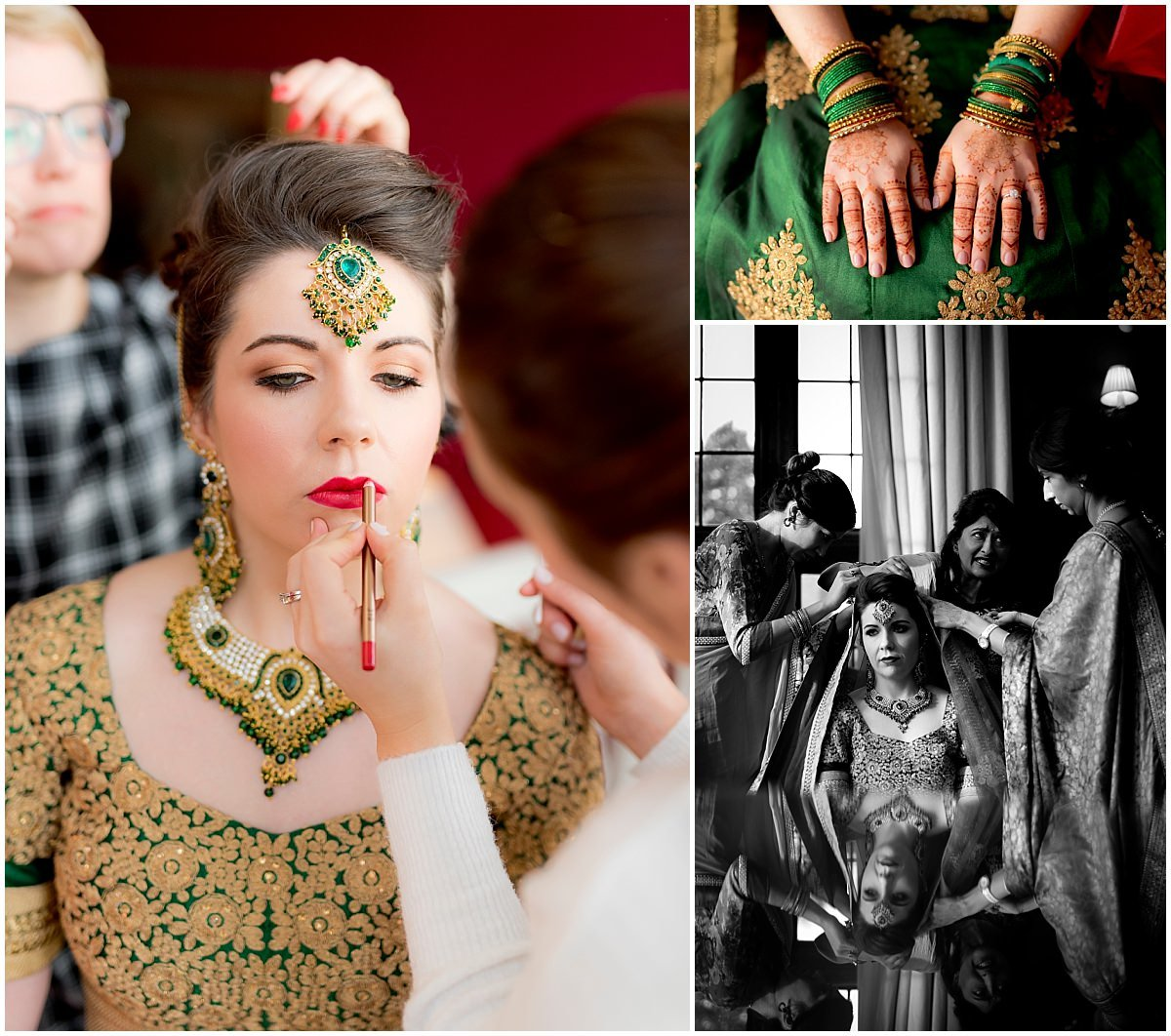 Hindu Wedding at Stapleford Park bridal portraits