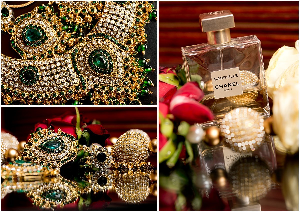 Hindu Wedding at Stapleford Park jewellery