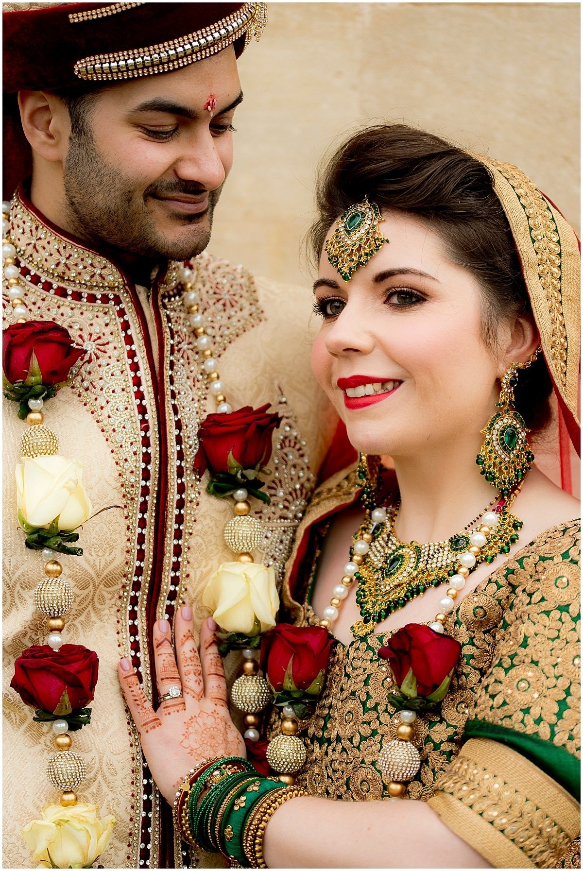 Epic Hindu Wedding at Stapleford Park with the bride and groom