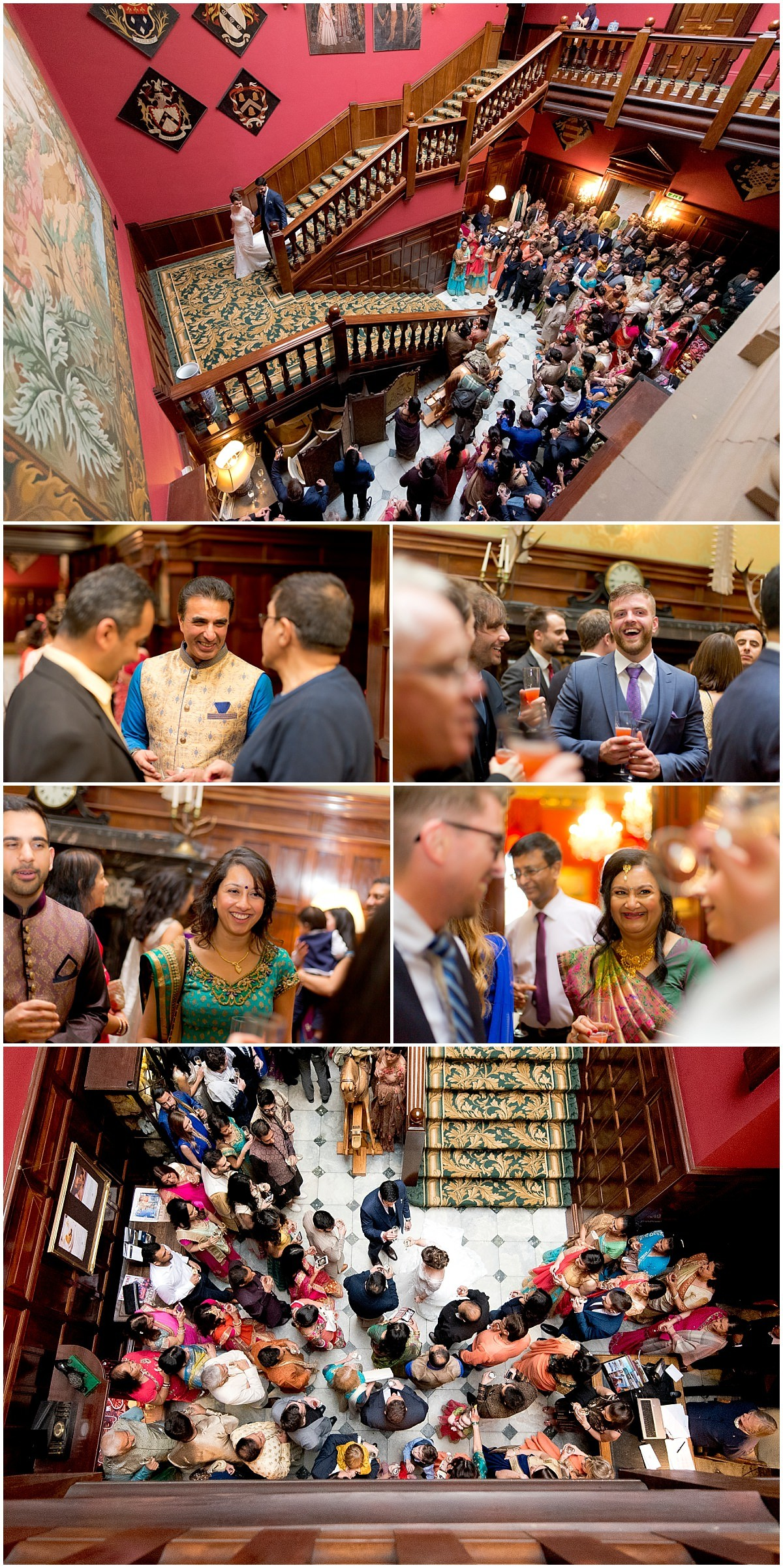 Hindu Wedding at Stapleford Park guests