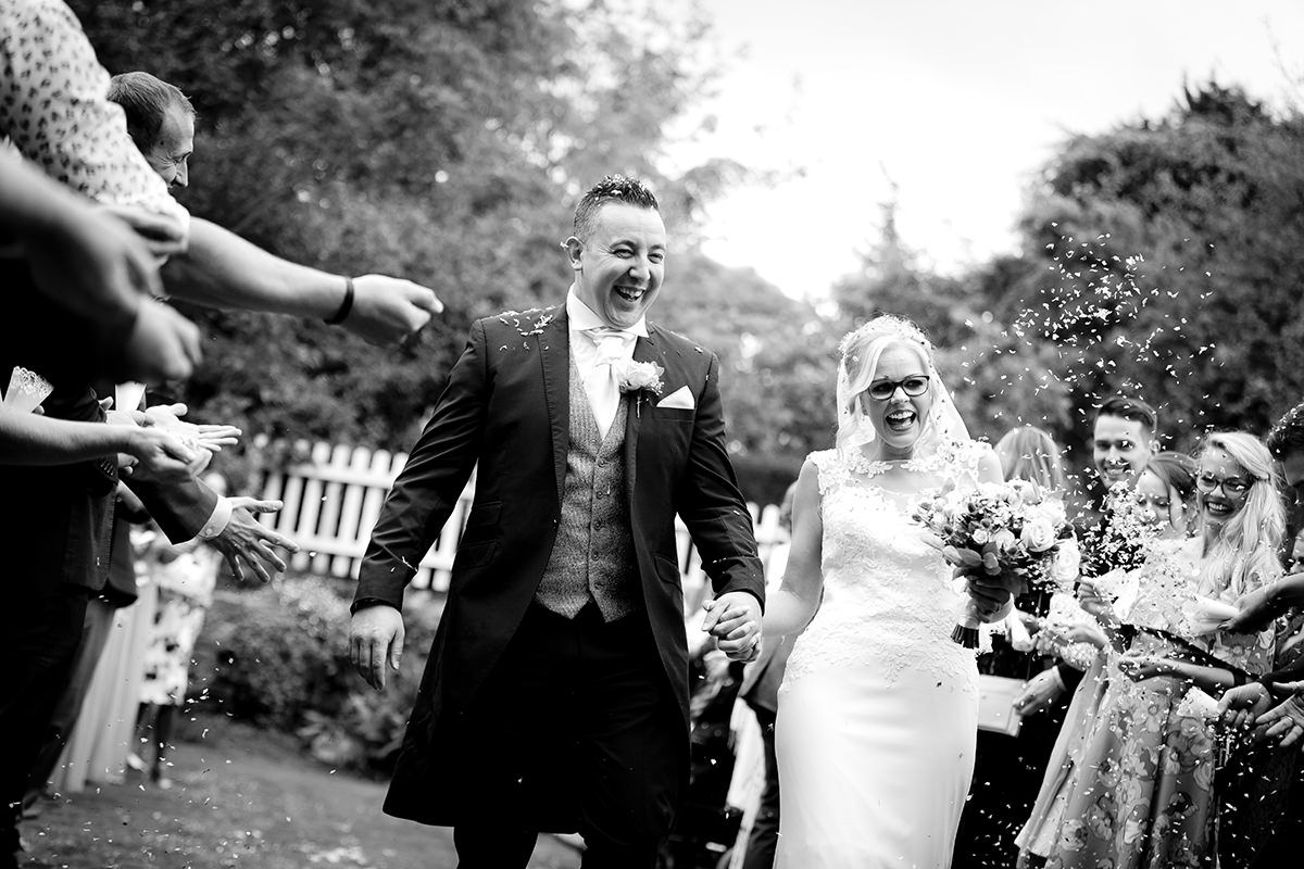 confetti at Thrumpton hall