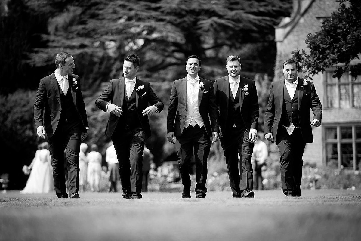 Grooms men at Thrumpton Hall