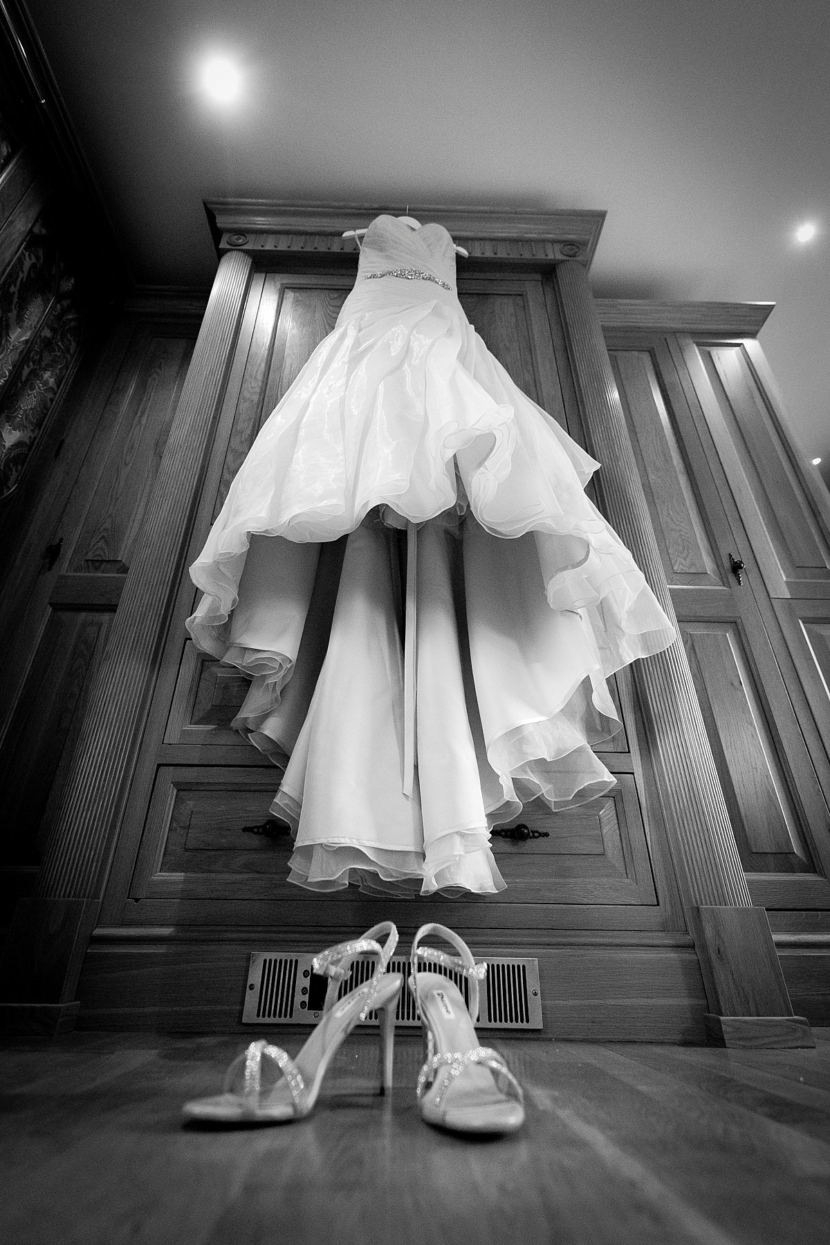 Swancar Farm Wedding Photography Dress and shoes