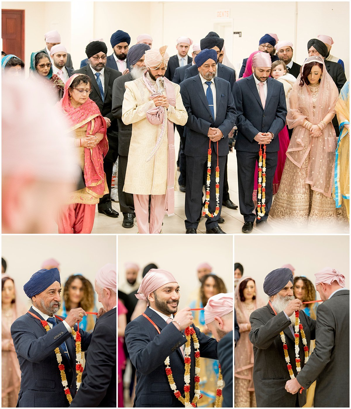 Sikh Wedding garland exchange