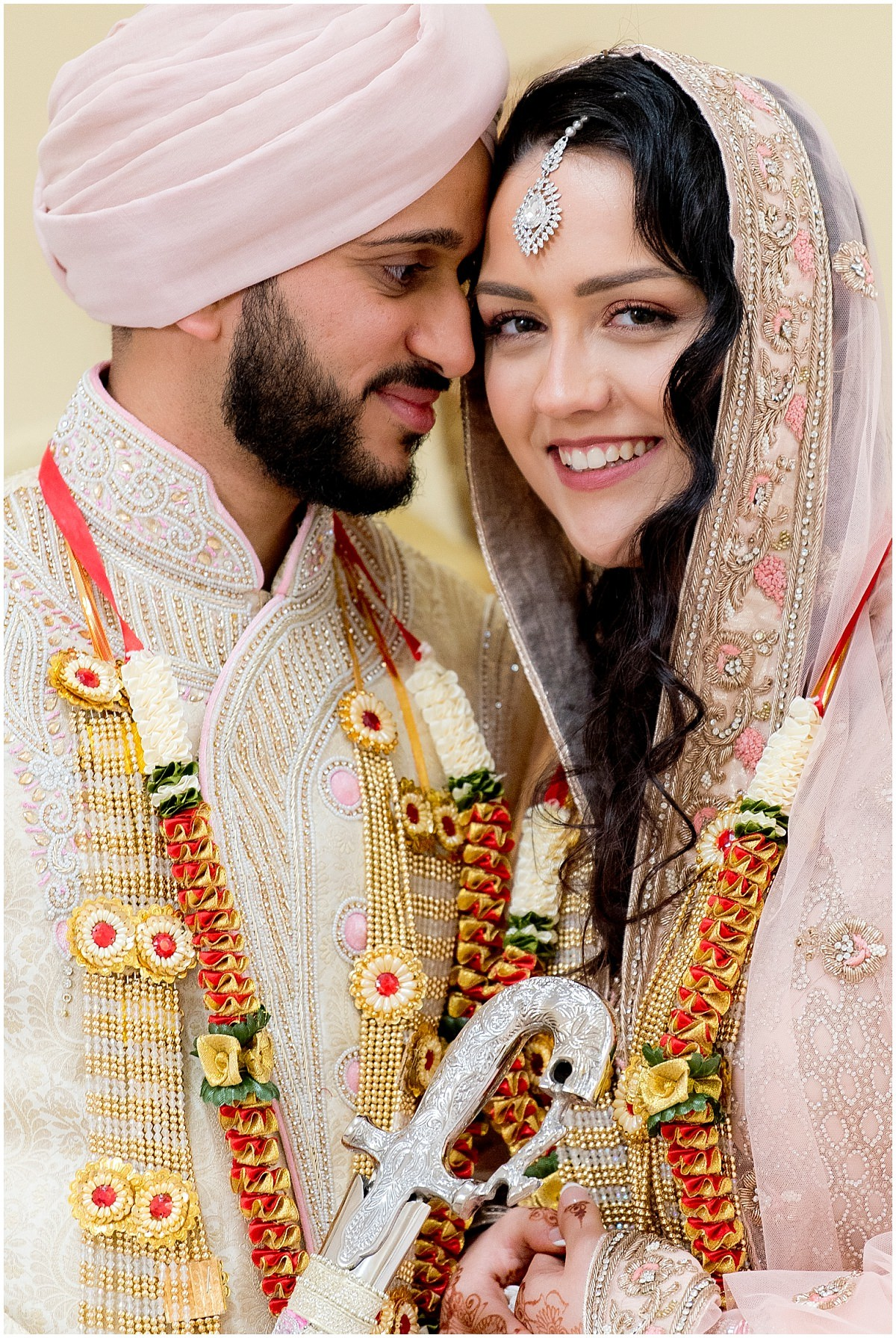 Sikh Wedding photography bride and groom