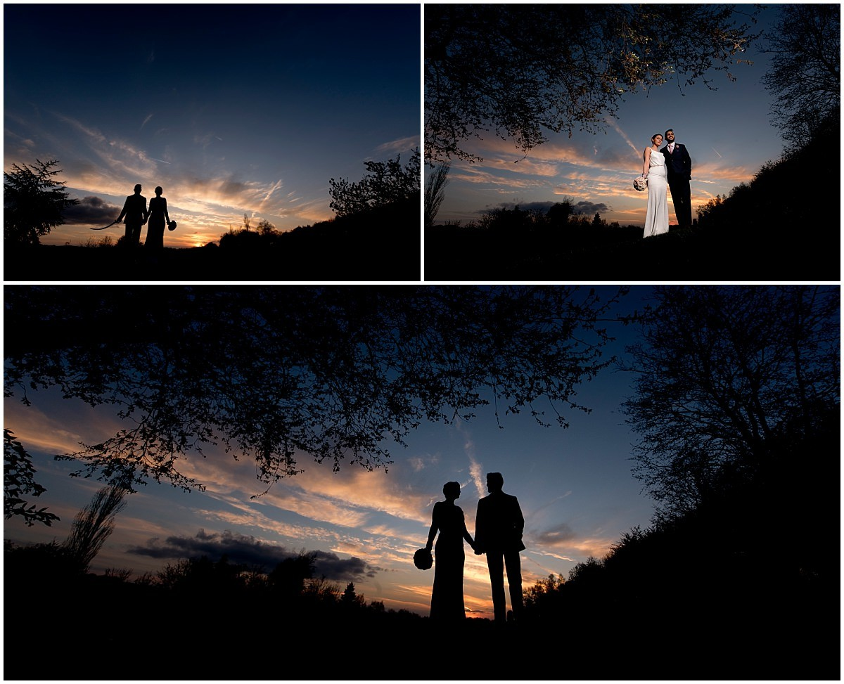 Sikh Wedding in Nottingham sunset portraits
