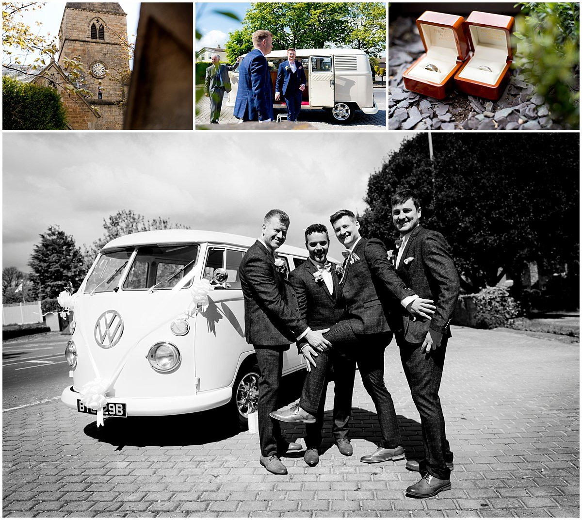 Groom and VW campervan