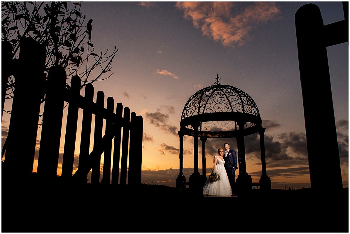 Epic sunset Wedding At Goosedale
