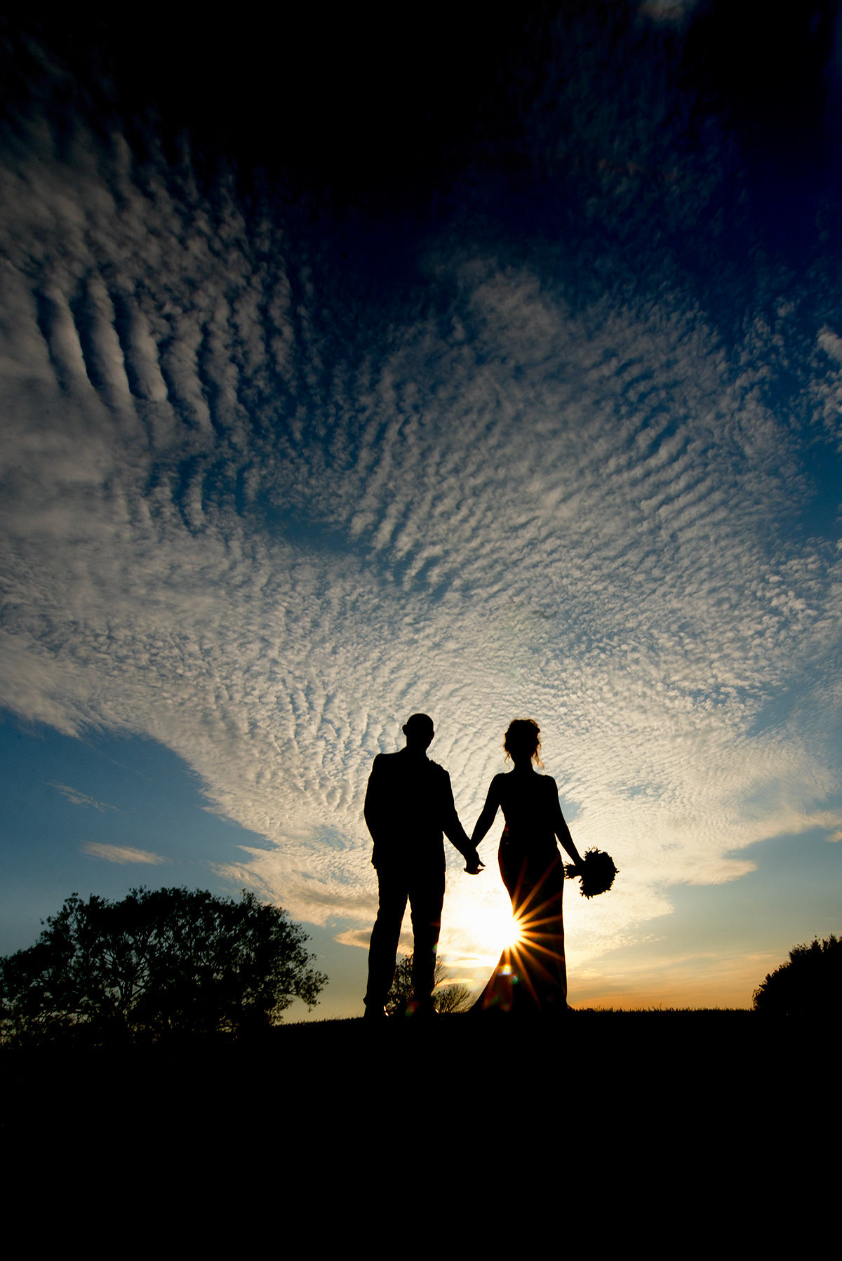 Wedding Photographer Nottingham silhouete