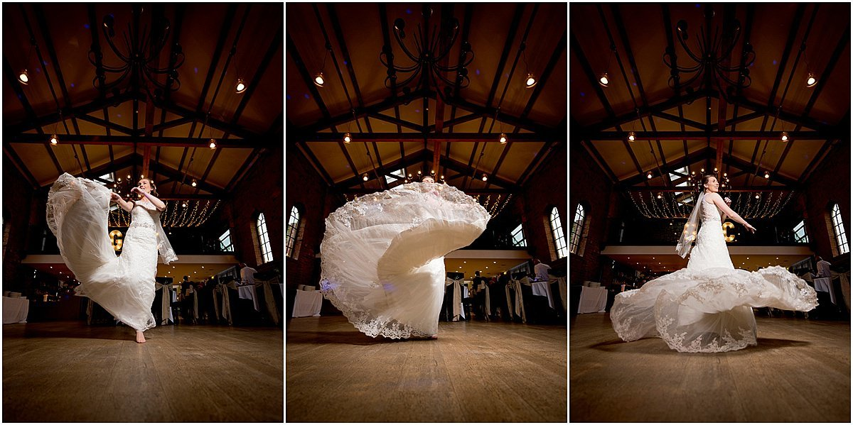 Bridal dress fling