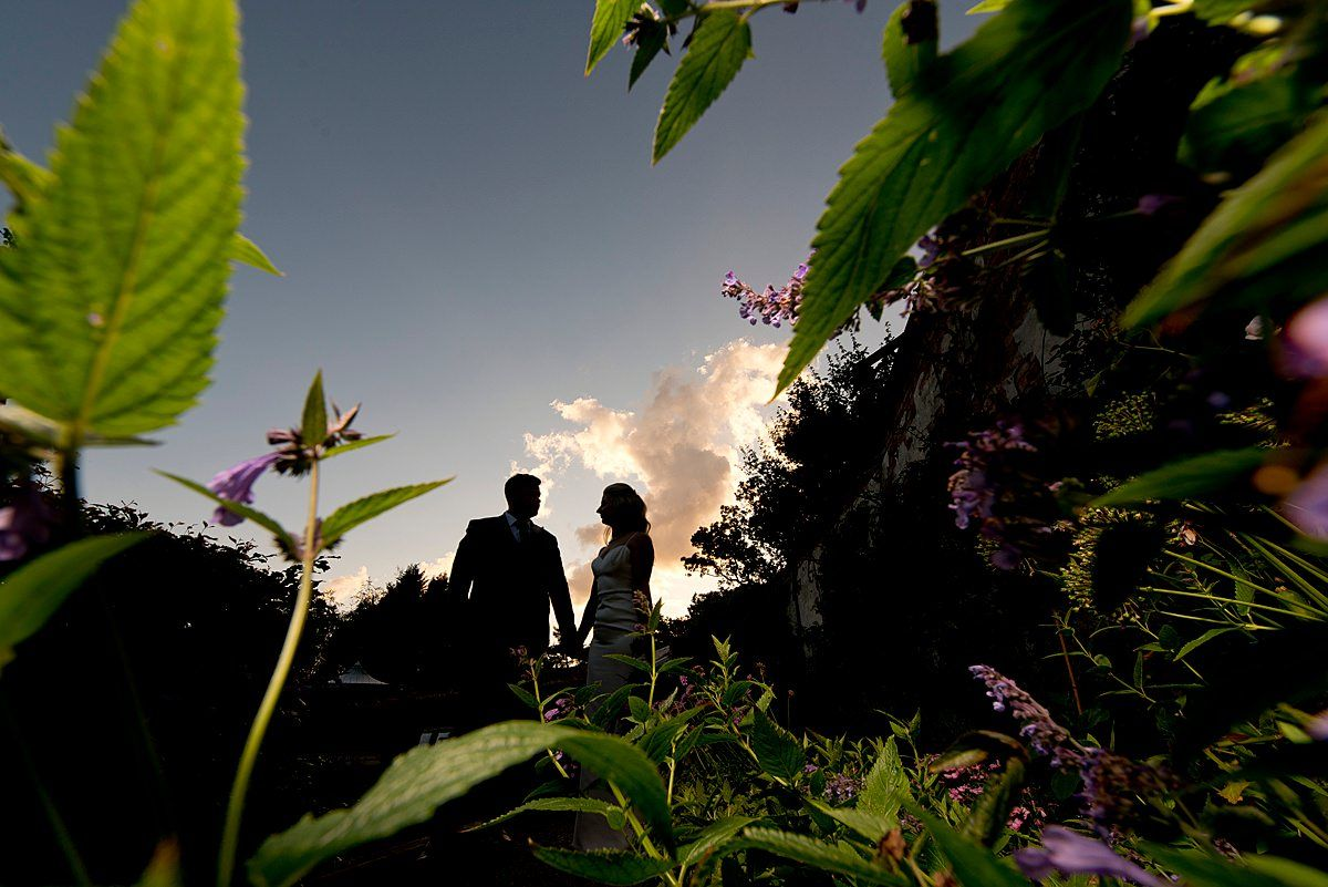 bride and groom at Walled Gardens
