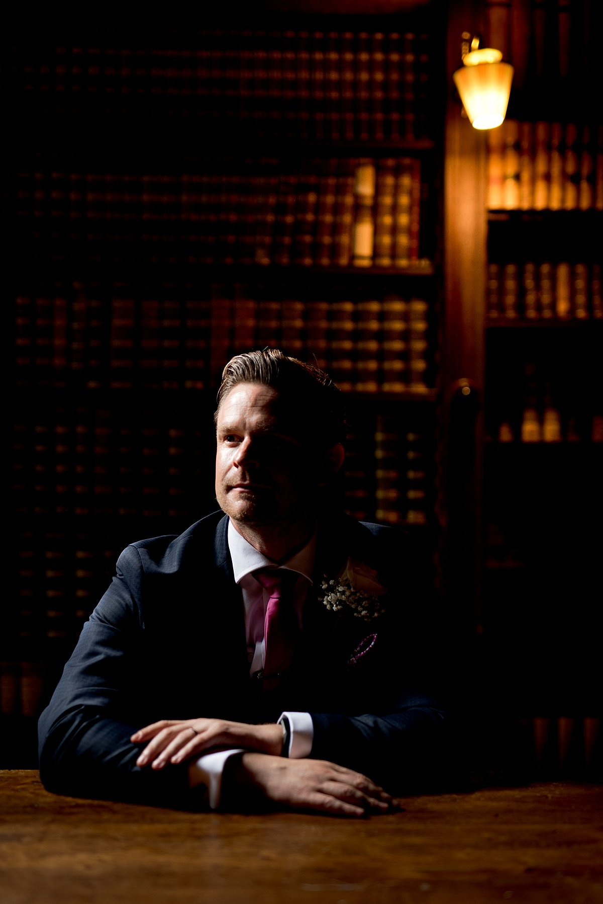 Groom portrait at norwood Park