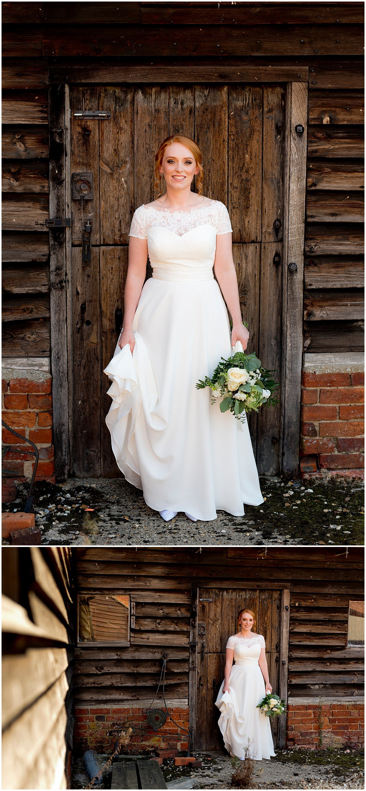 Bride at The Barns at Hunsbury Hill