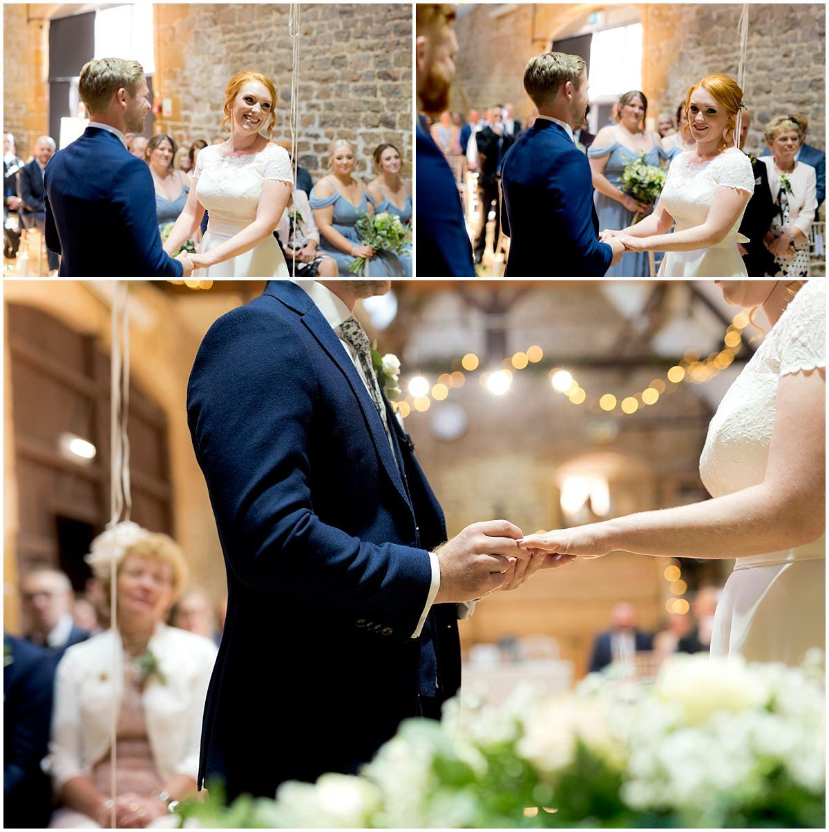 The Barns at Hunsbury Hill Wedding ceremony