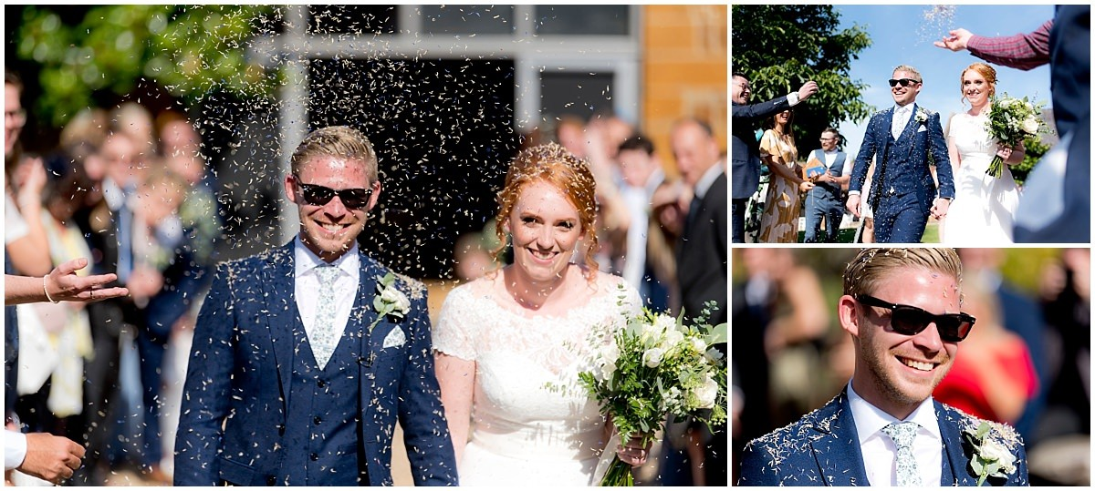 The Barns at Hunsbury Hill Wedding confetti