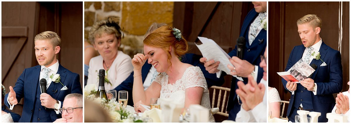The Barns at Hunsbury Hill Wedding speeches