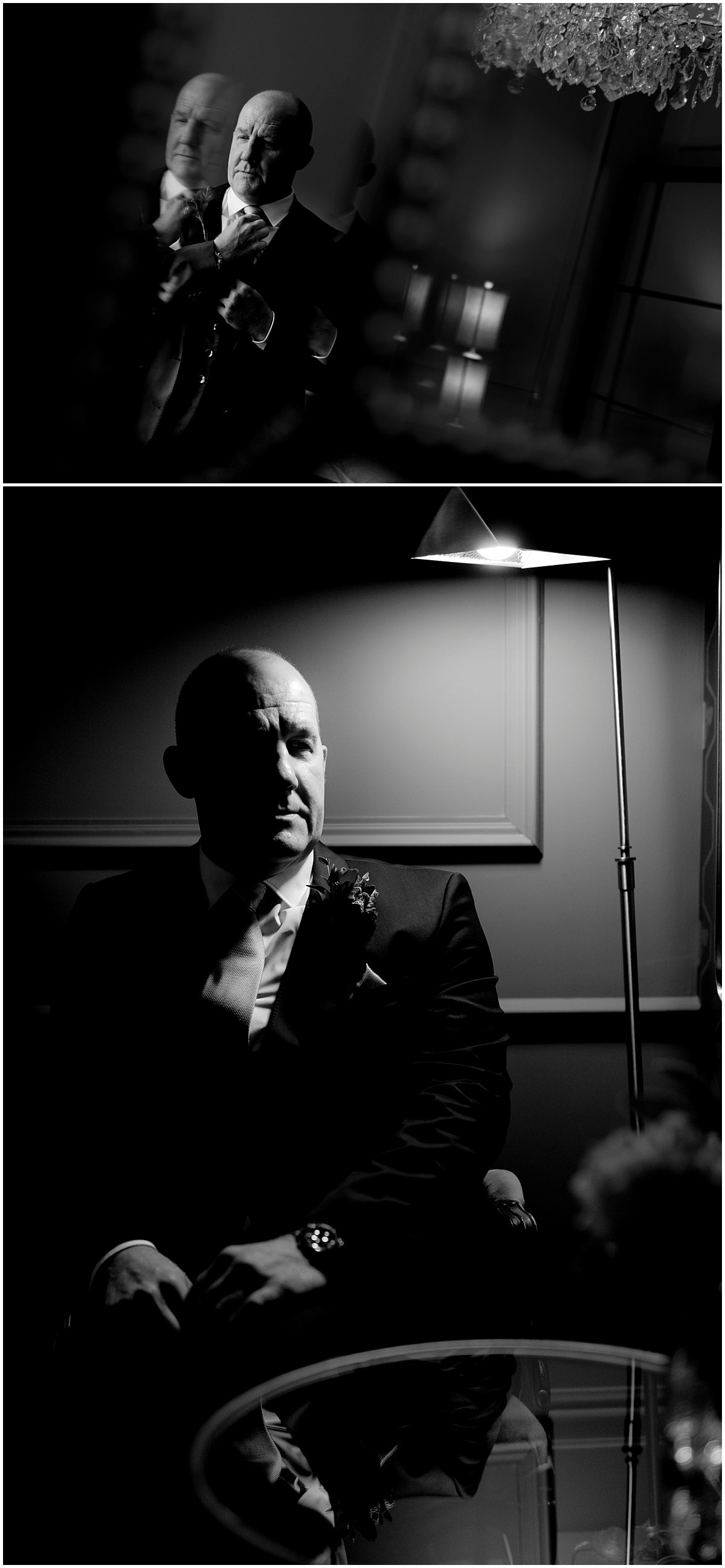 Groom portraits at The Old Vicarage Boutique Hotel