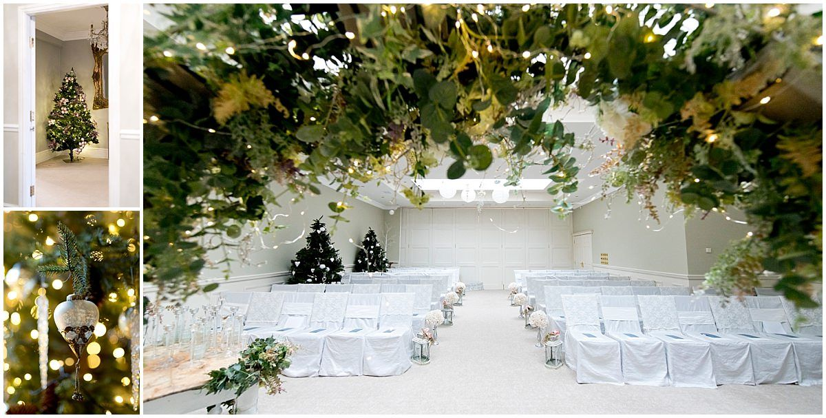 ceremony room at blackbrook house