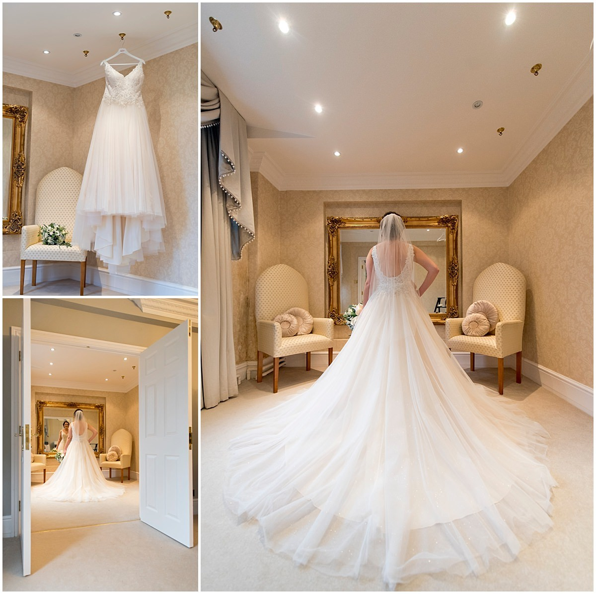 Wedding dress at Blackbrook House