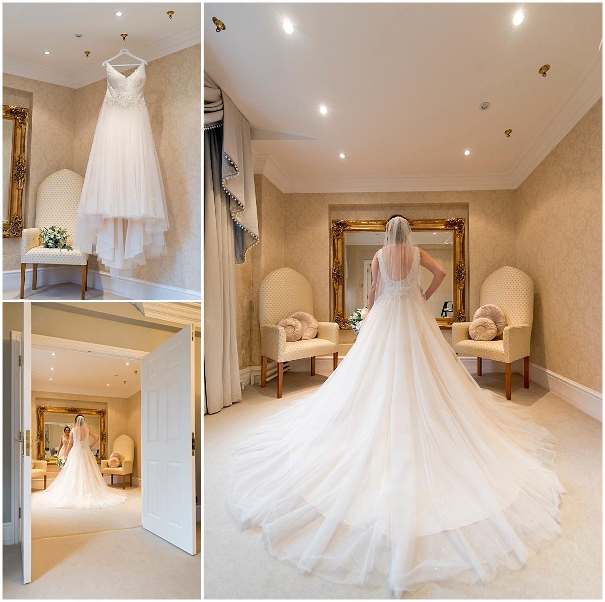 Wedding dress at Blackbrook House