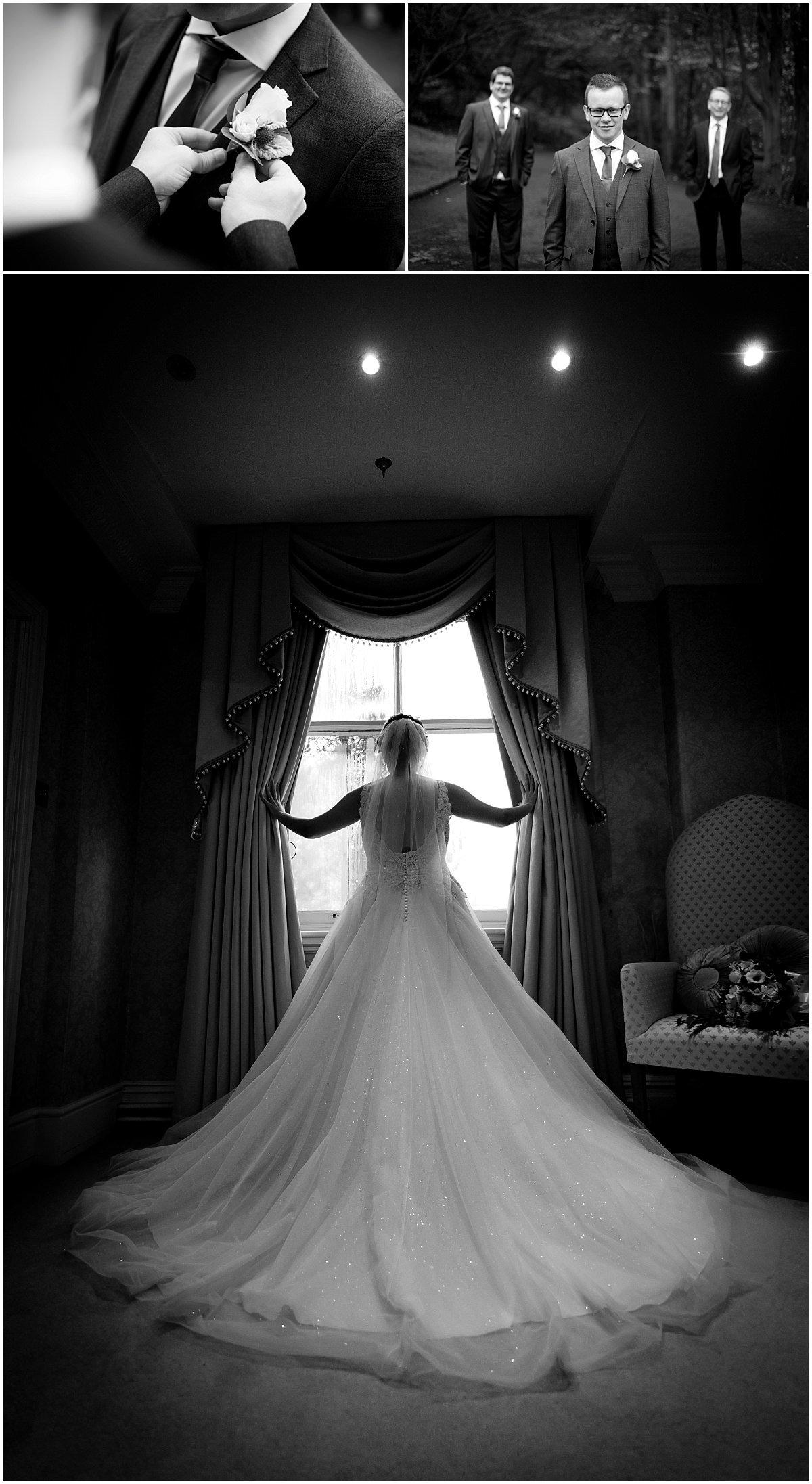Wedding at Blackbrook House silhouette