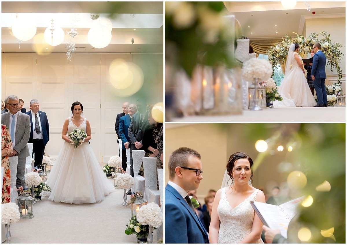 Wedding ceremony at Blackbrook House