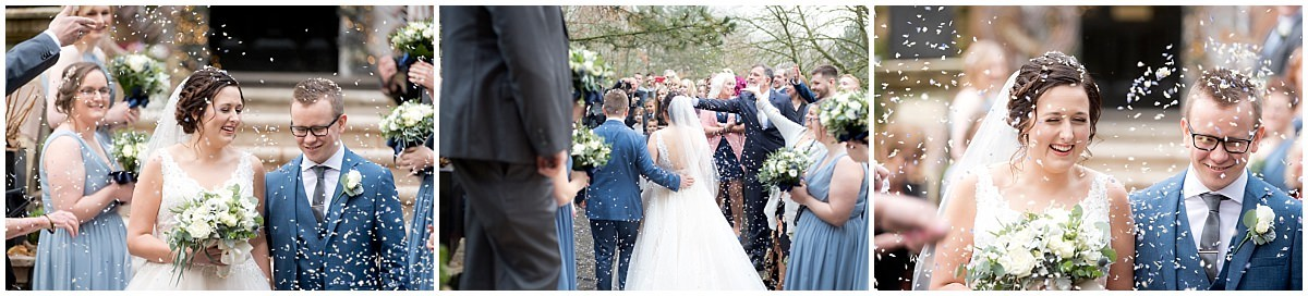 Wedding at Blackbrook House Confetti