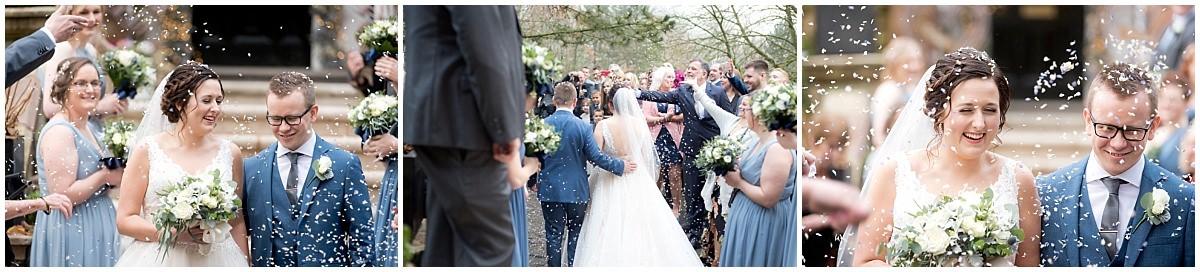 Wedding at Blackbrook House Confetti