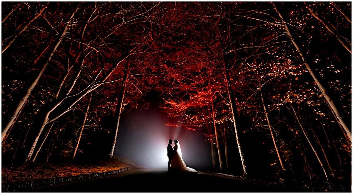 Wedding at Blackbrook House night