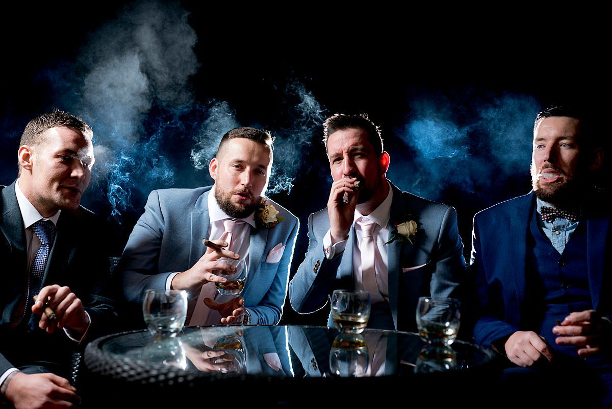 Cigar shot with the lads