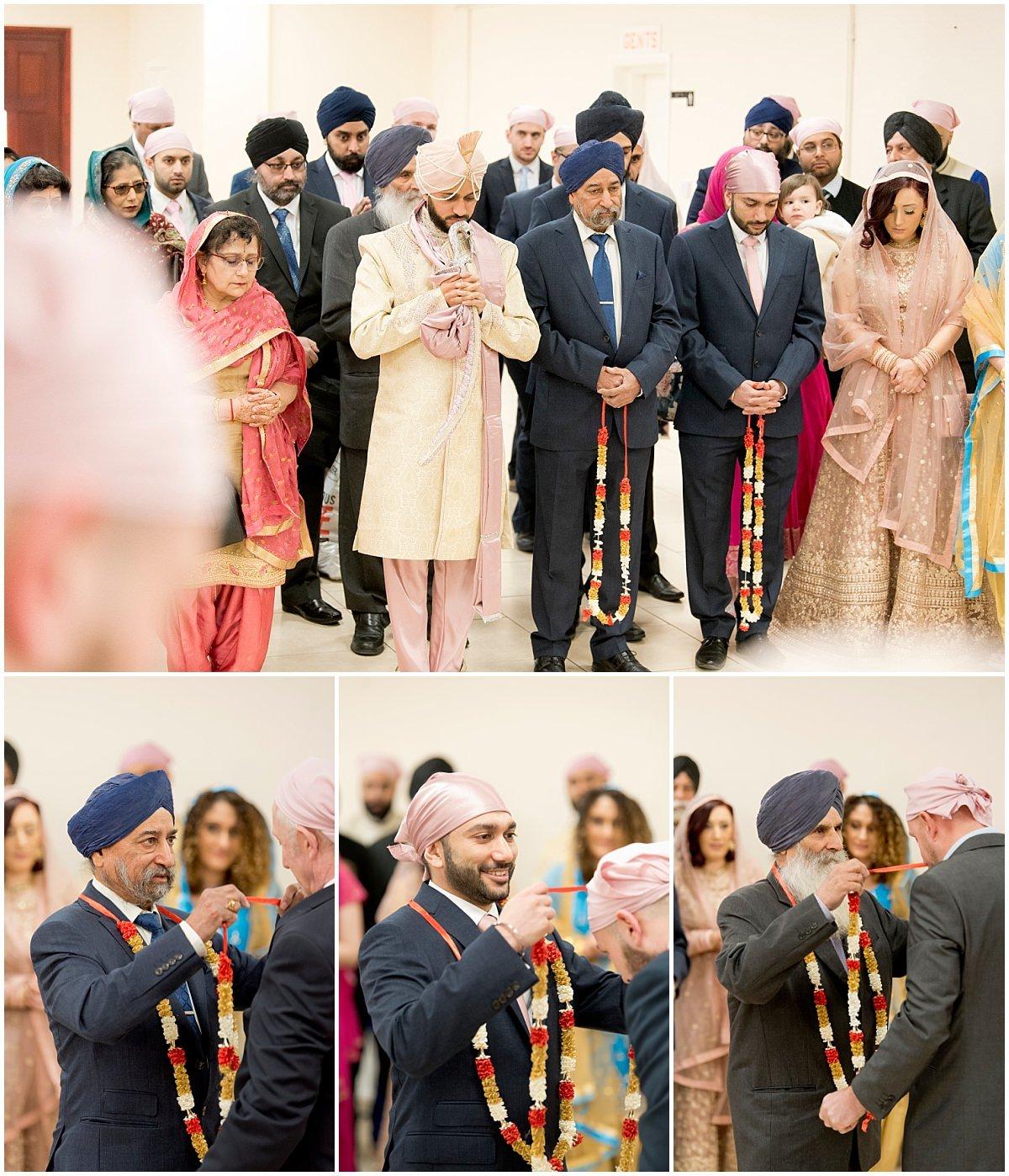 Sikh Wedding family