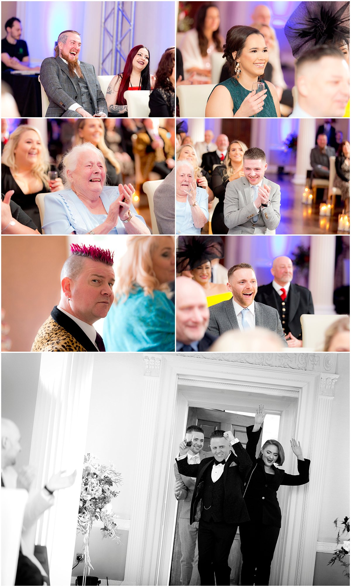 Wedding guests at Colwick Hall