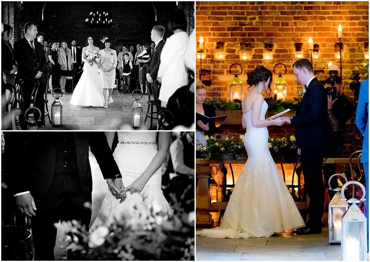 Winter Wedding at Hazel Gap Barn Ceremony