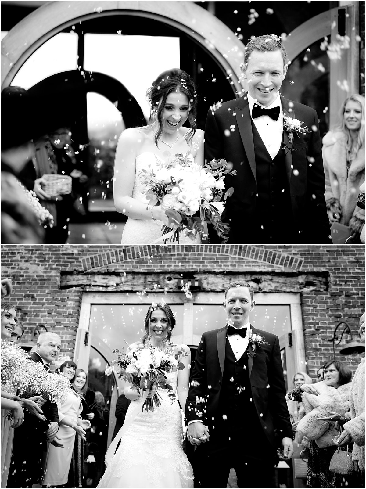 Winter Wedding at Hazel Gap Barn Confetti