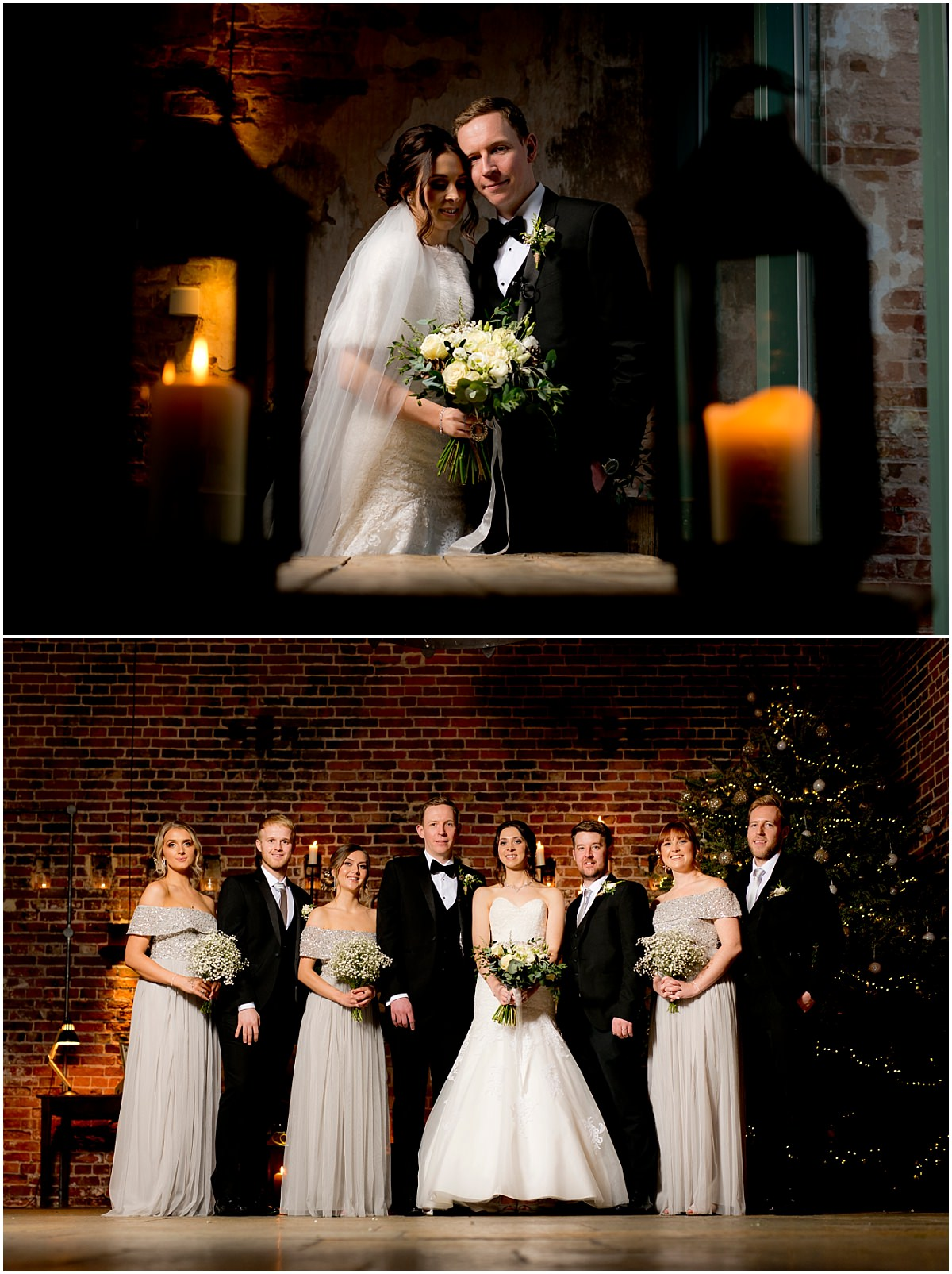 Winter Wedding at Hazel Gap Barn portraits