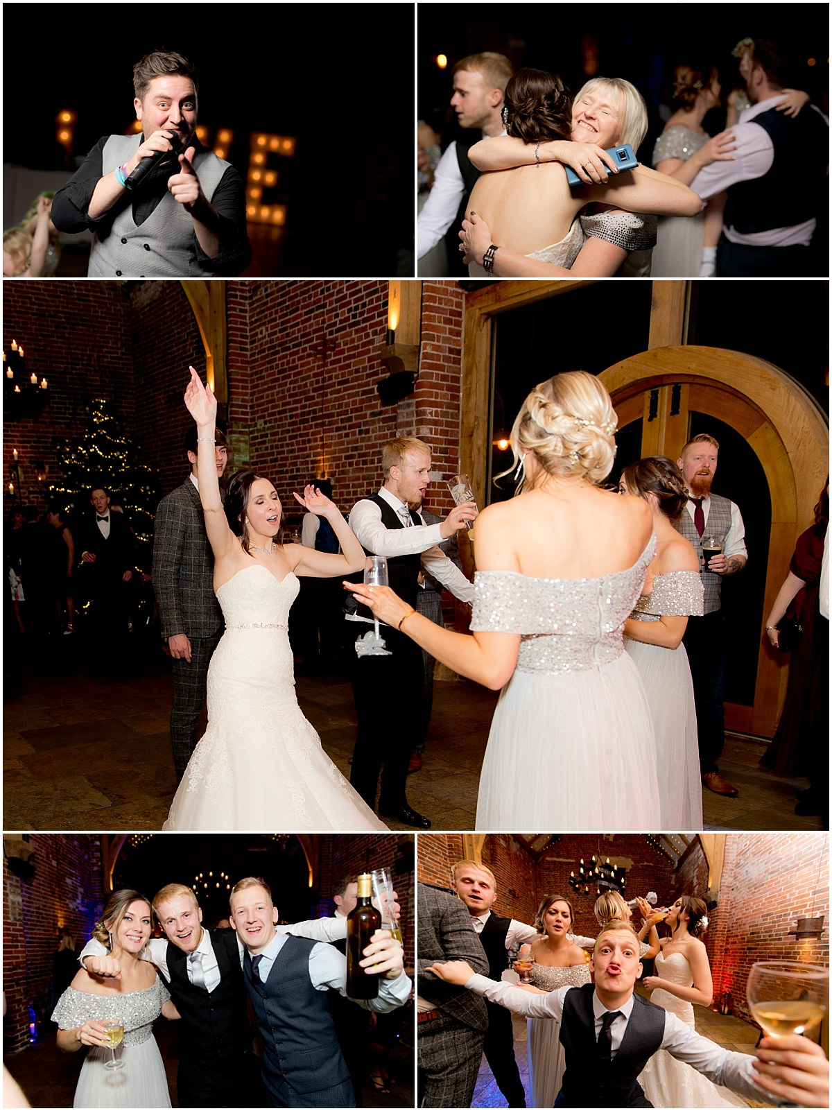 Winter Wedding at Hazel Gap Barn dancing