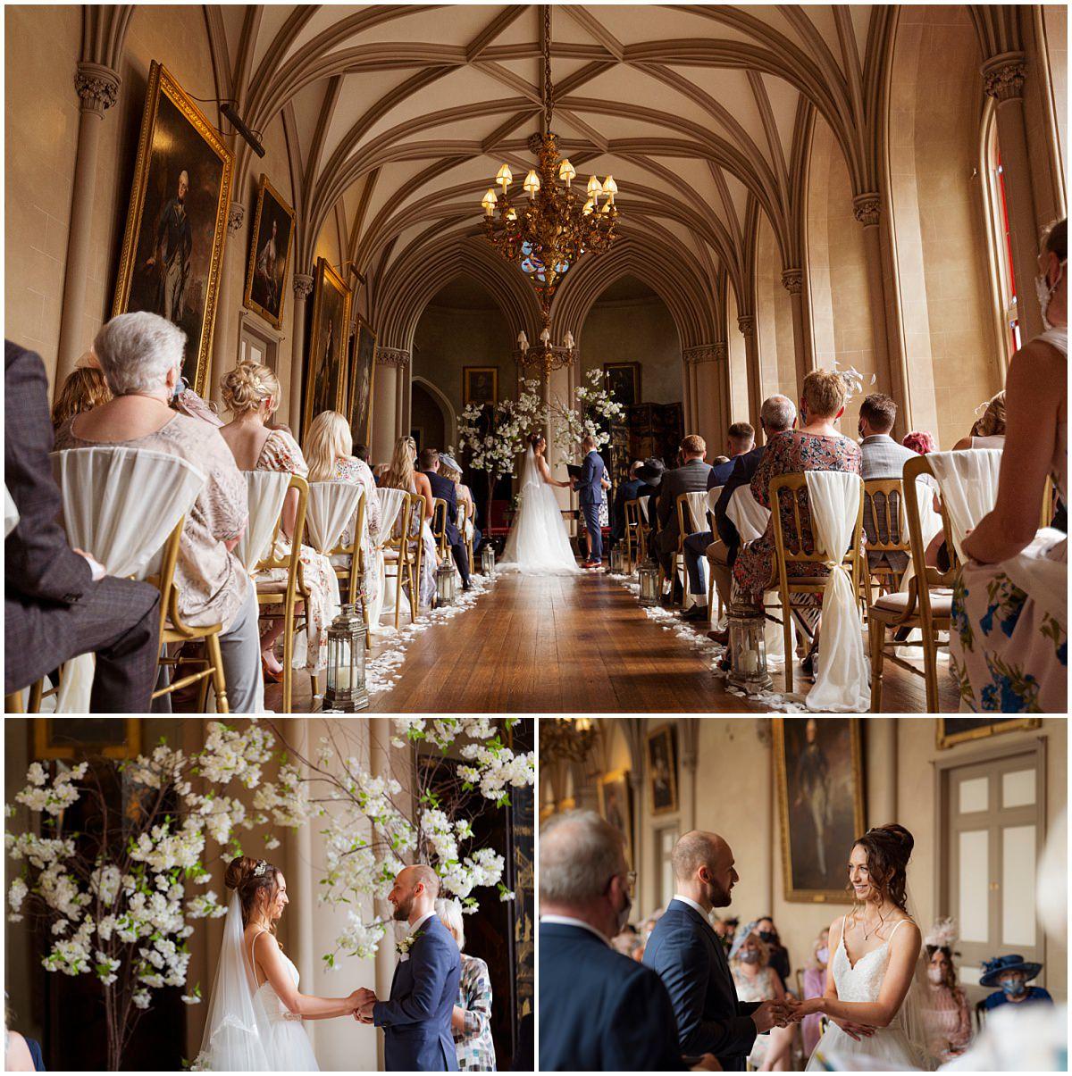 Belvoir Castle Wedding ceremony room