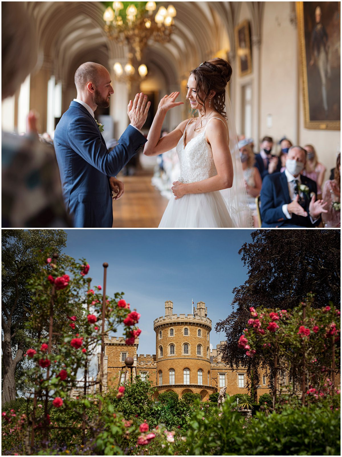 Belvoir Castle Wedding Photography high five