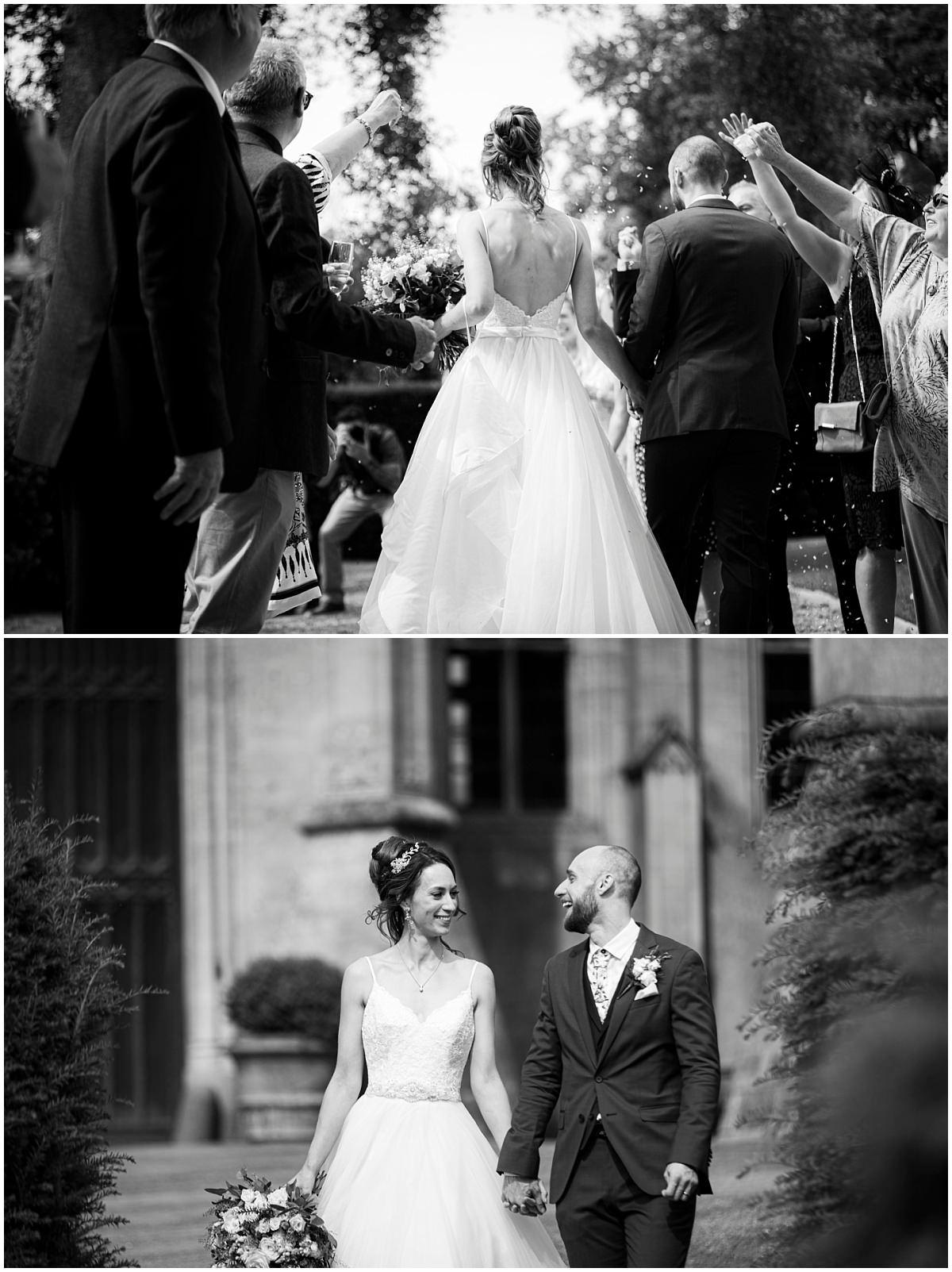 Bride and groom at Belvoir Castle