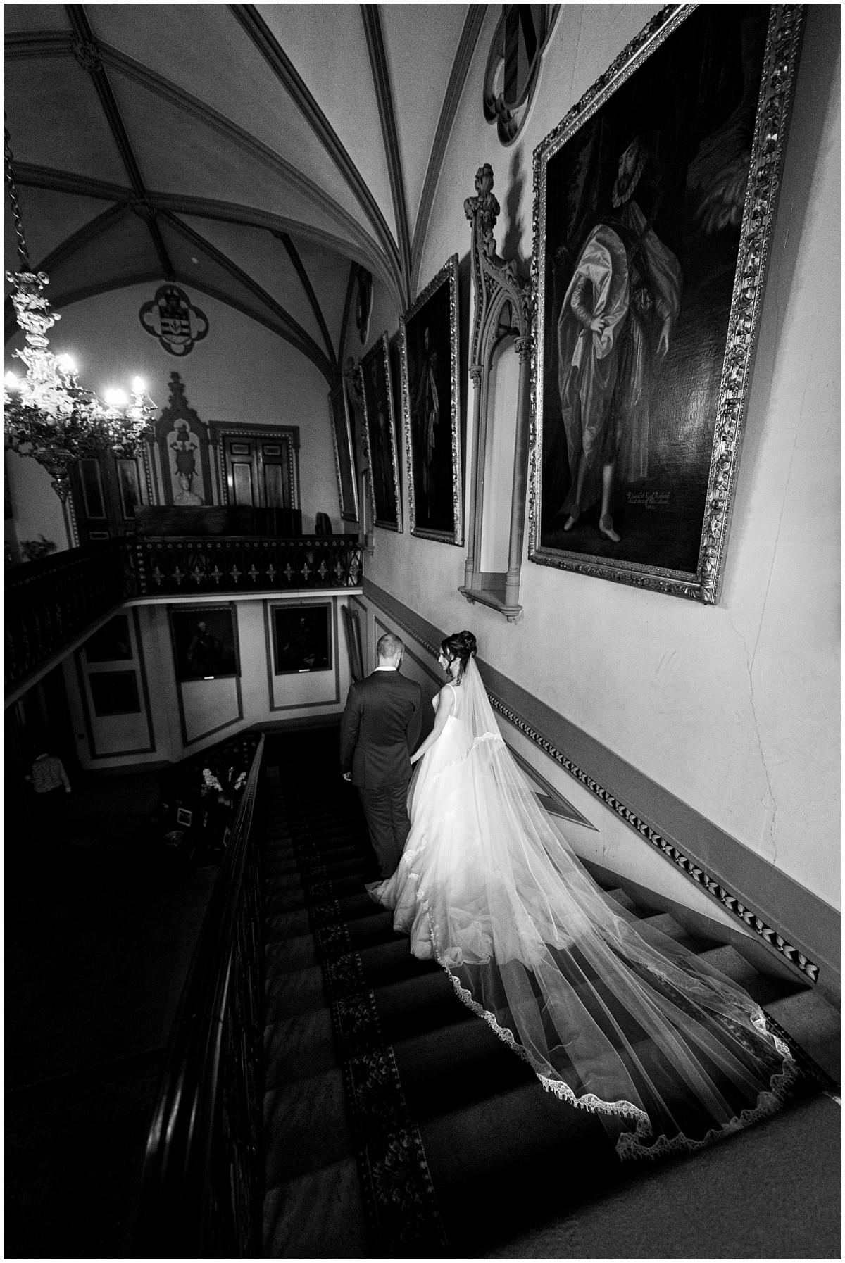 Belvoir Castle Wedding - staircase