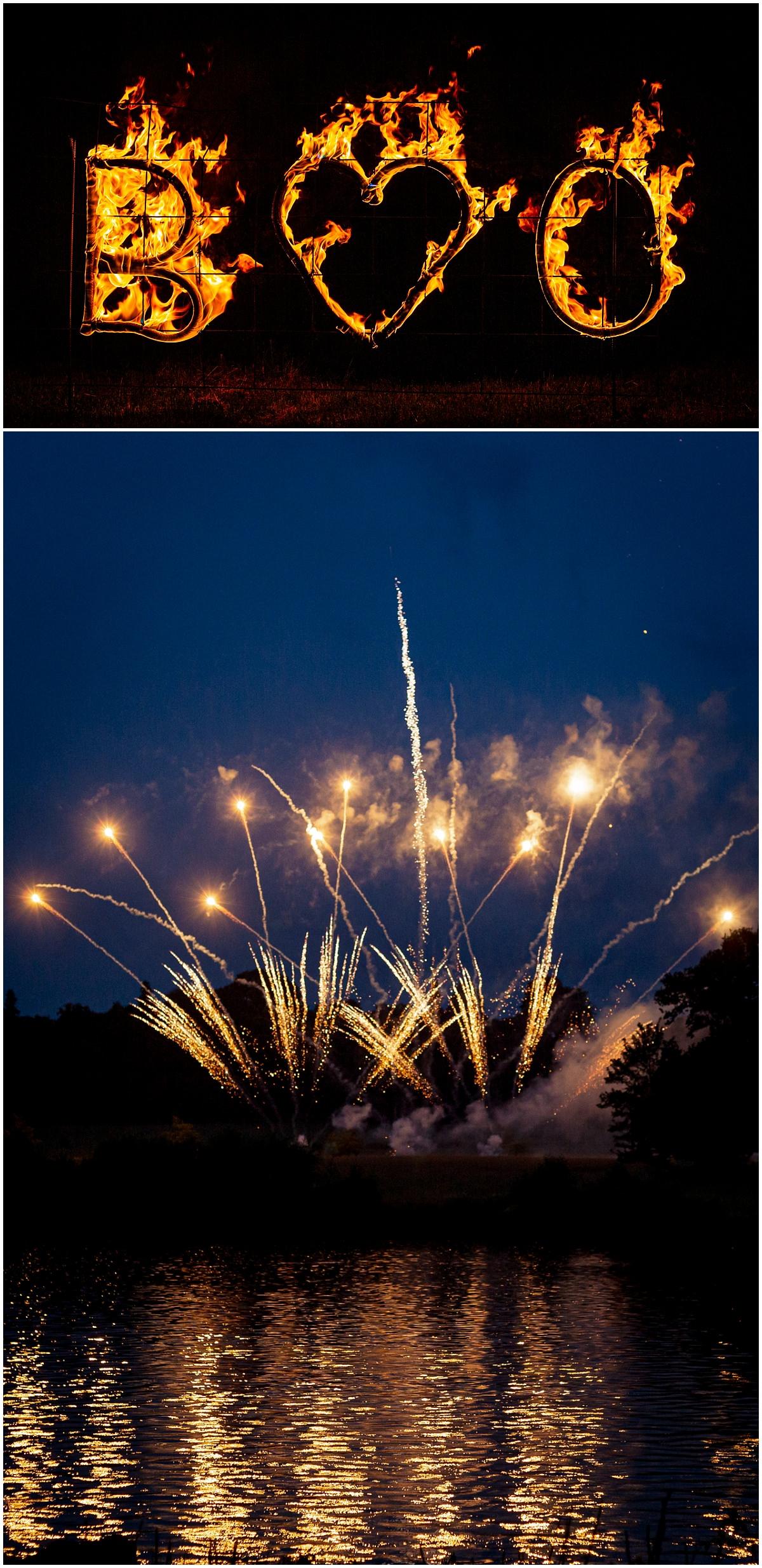 Belvoir Castle Wedding Fireworks